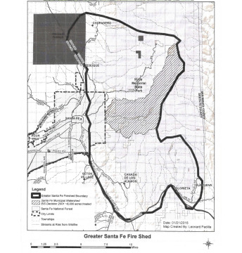Greater Santa Fe Fireshed Map